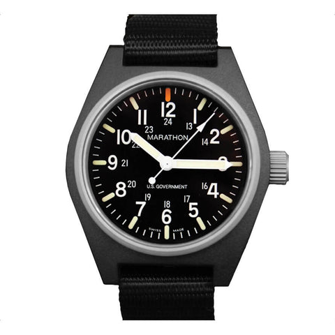 Marathon General Purpose Quartz Watch with MaraGlo Black | U.S. Government Dial | WW194009