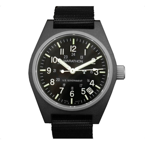 Marathon General Purpose Watch, Quartz with Date, Black | U.S. Government Dial