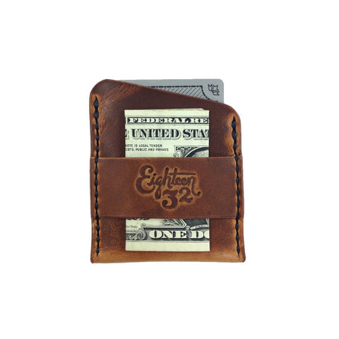 The Hart - Handmade Leather Cardholder Wallet with Cash Strap | Wallets by Eighteen32 - Top Spec U.S.