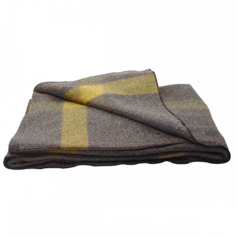 Gray Wool Blanket Civil War Design 02-7741 | Military Wool & Mylar Survival Blankets by Top Spec U.S.