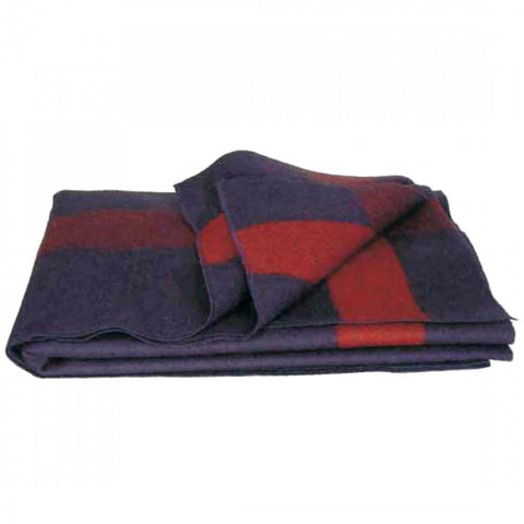 Blue Wool Blanket Civil War Design 02-6929 (Country Living Magazine) | Military Wool & Mylar Survival Blankets by Top Spec U.S.