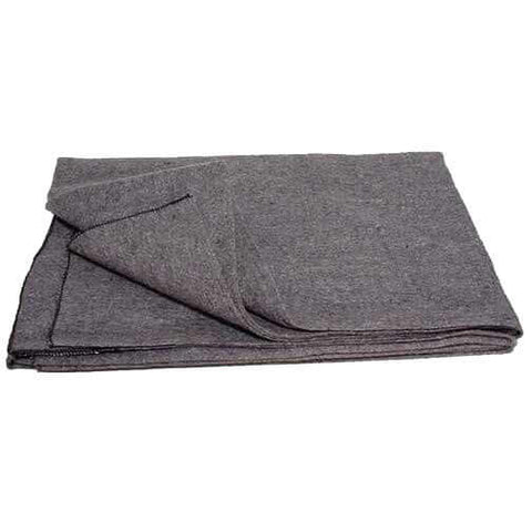 Gray Wool Blanket (Emergency, Utility, Camping) 02-7358 | Military Wool & Mylar Survival Blankets by Top Spec U.S.