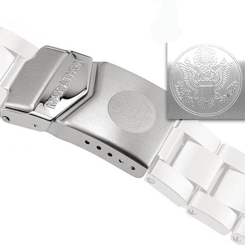Genuine Marathon Replacement Stainless Steel Bracelet Clasp, U.S. Great Seal | Watch Replacement Parts by Marathon - Top Spec U.S.