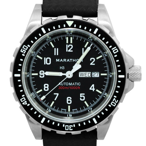 Marathon JDD Large Automatic Divers Watch With Day and Date WW194021 (Automatic JSAR With Tritium)| Tactical Watches by Marathon - Top Spec U.S.
