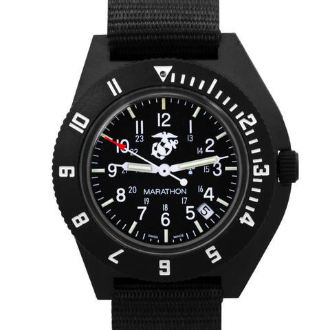 Marathon USMC Pilot Navigator Quartz with Date WW194013USMC-BK | Tactical Watches by Marathon - Top Spec U.S.