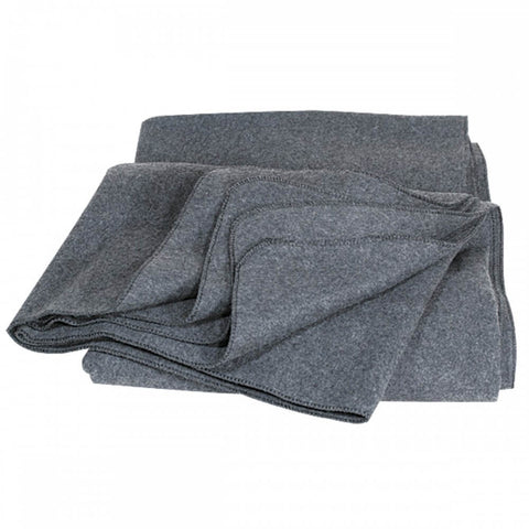 Army Style Gray 80% Wool Oversize Blanket (Emergency, Utility, Camping) | Military Wool & Mylar Survival Blankets by Mil-Spec+ - Top Spec U.S.