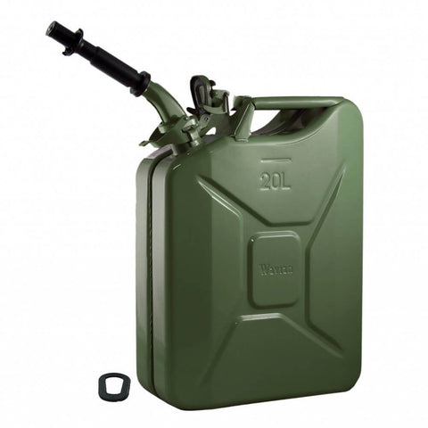 Wavian 20L (5 Gal) NATO Jerry Gas Can With Spout, Gasket - Olive Drab OD Green 3008