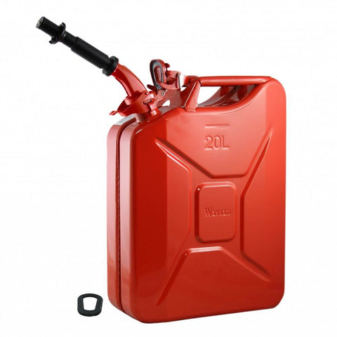 Wavian 20L / 5 Gallon NATO Jerry Can With Spout, Gasket 3009 Red | Jerry Cans by Wavian - Top Spec U.S.