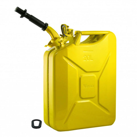 Wavian 20L (5 Gal) NATO Jerry Gas Can With Spout, Gasket - Yellow 3011