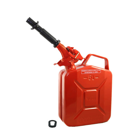 Wavian 5L (1.3 Gal) NATO Jerry Gas Can With Spout, Gasket Red 3015 | Jerry Cans by Wavian - Top Spec U.S.