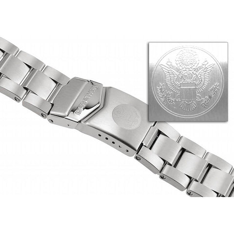 Marathon Stainless Steel Bracelet For CSAR Chronograph, JSAR, JDD - 22mm - WW005007US U.S. Great Seal