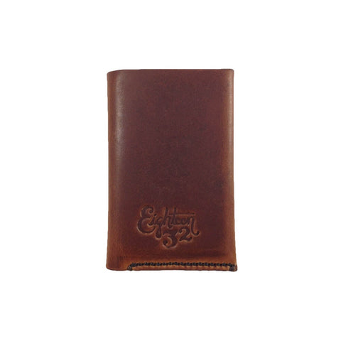 The Roosevelt - Handmade Leather Cardholder Wallet - English Tan - Closed