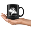 La Reina Del Cafe Black Coffee Mug