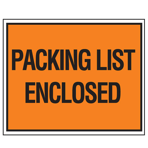 "Self-Adhesive Packing List Envelopes - 4-1/2 x5-1/2"" - Full Face - English - Package of 1000"