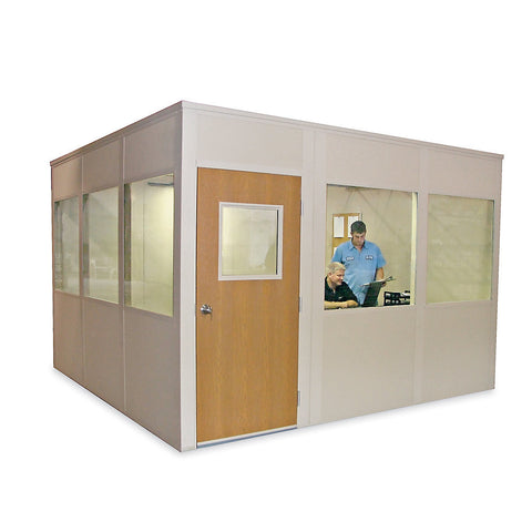 "-3/16"" Safety Glass Tempered Window (42""Hx44""W) for PORTA-KING Versa-King Modular Offices"