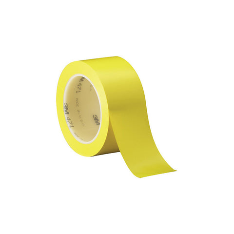 "3M 471 Solid Vinyl Tape - 0.5"" x 36 Yards - 5.2 Mil - Yellow"