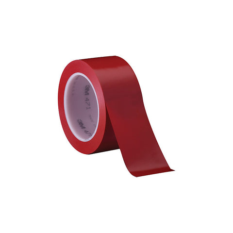 "3M 471 Solid Vinyl Tape - 0.5"" x 36 Yards - 5.2 Mil - Red"