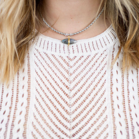 IRIDESCENT DROP NECKLACE