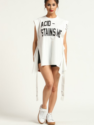 "No Acid Allowed ""Sleeveless Sweat-shirt"""