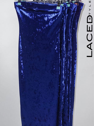 """Royal"" Crushed Velvet Dress"