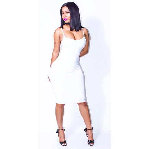 White Strappy Bodycon