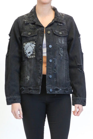 Biker Chic Denim Jacket