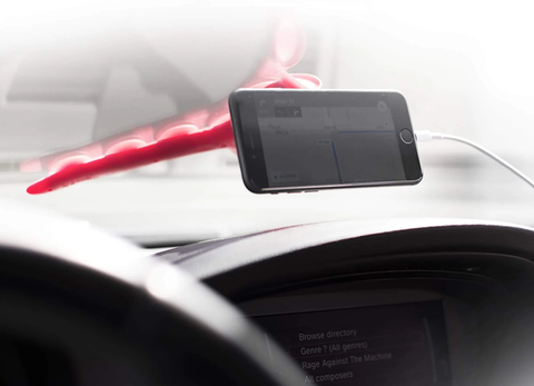 Tenikle car phone mount holding an iphone