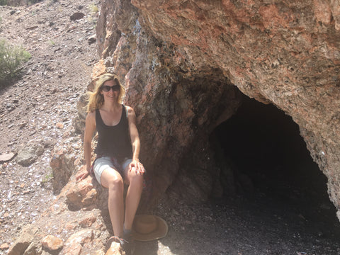 Mica Cave on the Joseph Mine Hike In Ojo Caliente New Mexico