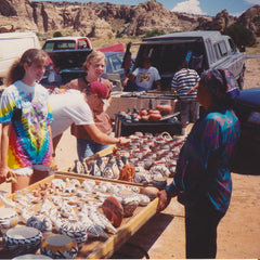 Bonnie McClung & Mindy McClung Buying Native American Pottery At A New Mexico Pueblo