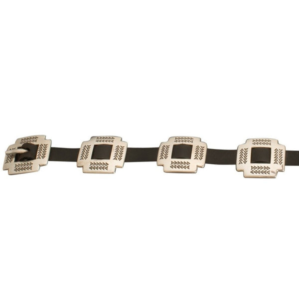 Norbert Peshlakai Concho Belt of Sterling Silver