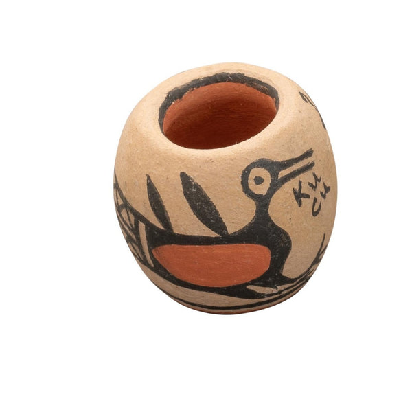 Miniature Bird Jar By Terry Reano of Kewa Pueblo