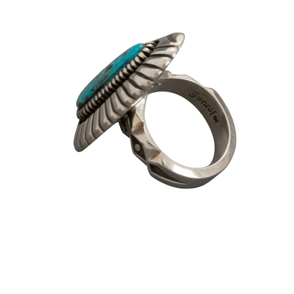 Large Ring by Jennifer Curtis of Natural Morenci Turquoise