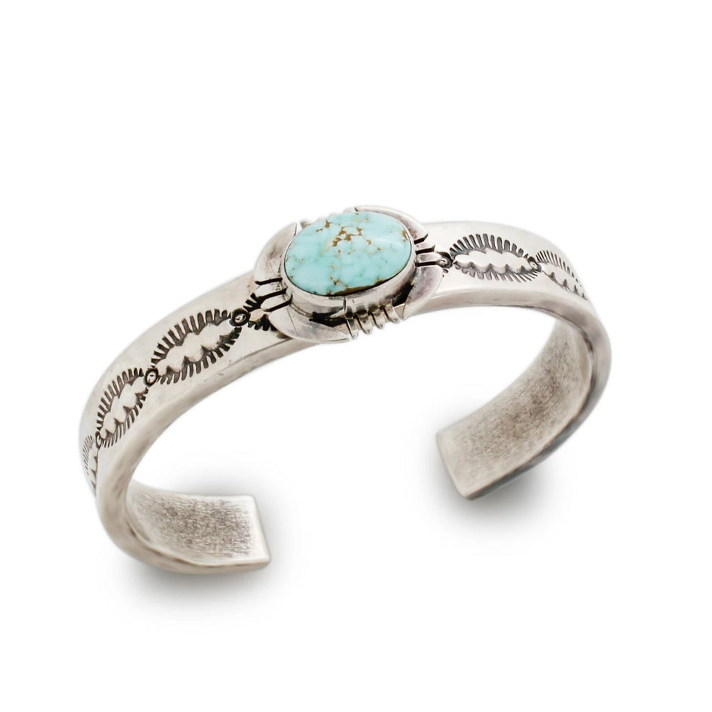 Navajo Bracelet With #8 Turquoise By John Nelson