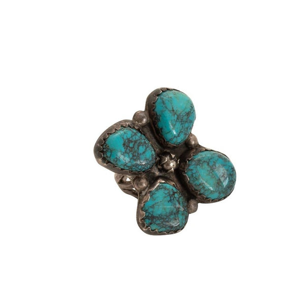 Vintage Allen Pooyouma Turquoise Ring