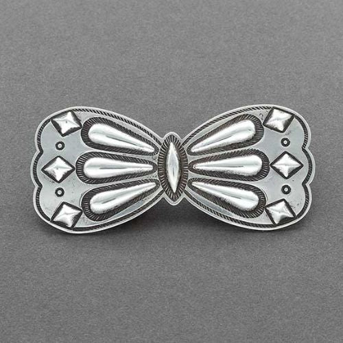 McKee Platero Silver Butterfly Pin of Repousse