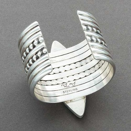 Mike Bird Romero Silver Cuff of Turquoise and Jet