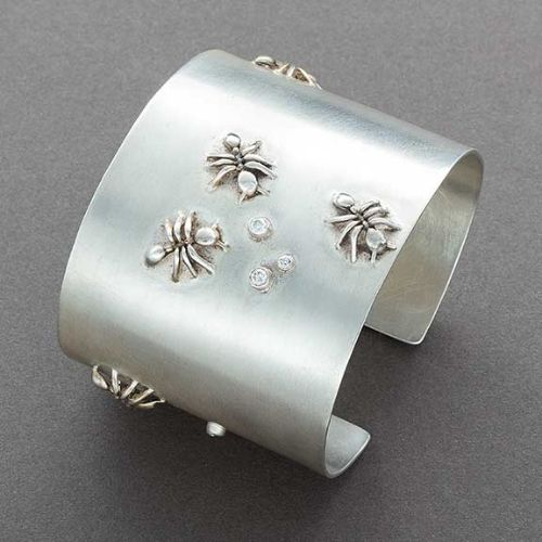 Keri Ataumbi Silver Bracelet with Diamonds and Ants