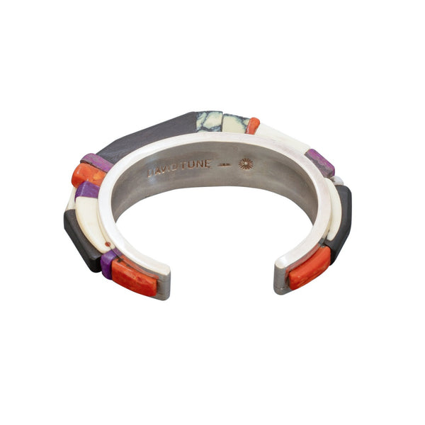 David Tune Height Inlay Bracelet of Sterling Silver