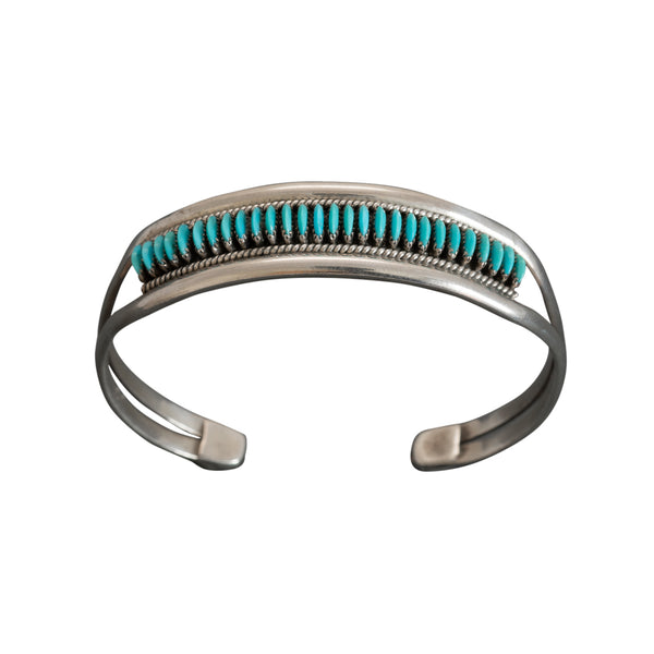 Edith Tsabetsaye Bracelet of Turquoise and Silver