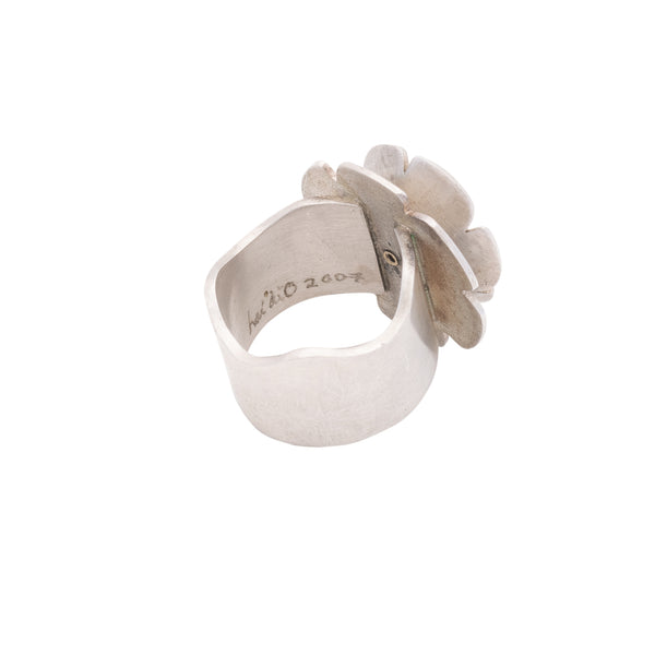 Heidi BigKnife Flower Ring of Gold and Silver