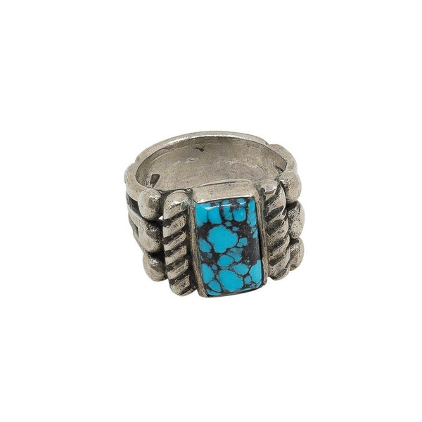 Old Style Turquoise Ring by Greg Lewis