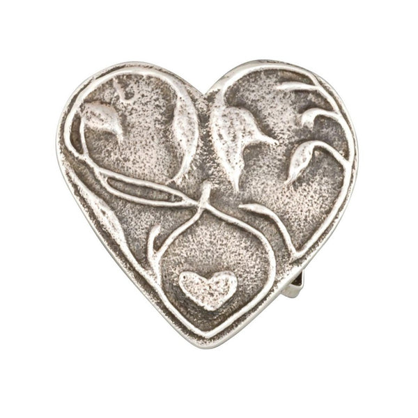 Ira Custer Buckle of Sterling Silver Heart