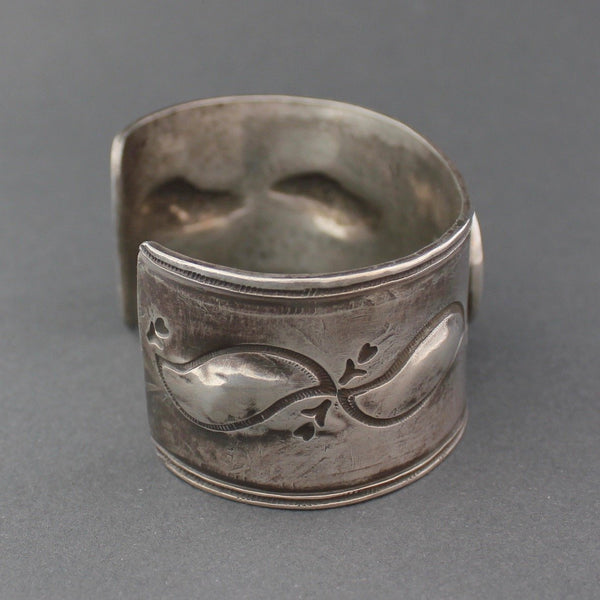 Silver Bracelet with Natural Turquoise and Horse Stamp by Greg Lewis & Dyaami Lewis Side