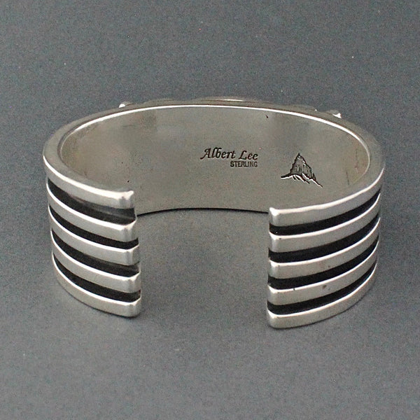 Heavy Silver Bracelet With Spiny Oyster By Albert Lee Hallmark