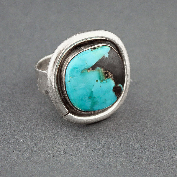 Silver and Turquoise Ring by Tony Aguilar