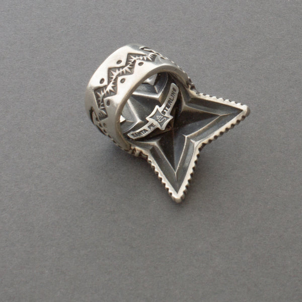 Cody Sanderson Sterling Silver Repousse Star Ring Handmade