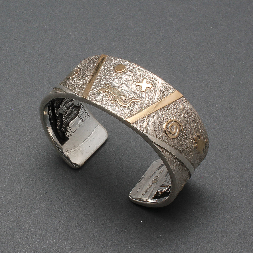 Cody Hunter Silver Inner Beauty Bracelet with Story Scene Petroglyphs