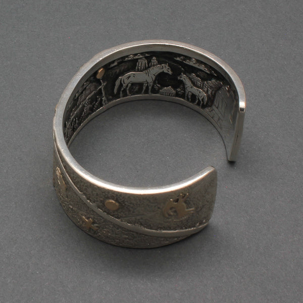 Cody Hunter Silver Inner Beauty Bracelet with Story Scene Canyon De Chelly
