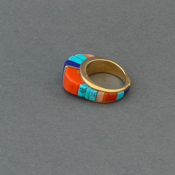 18kt Gold Height Inlay Ring By Sonwai