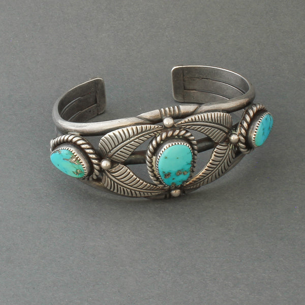Vintage Bracelet By McKee Platero Of Turquoise and Silver